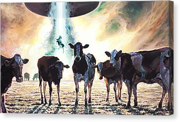 Close Encounters Of The Herd Kind Canvas Print
