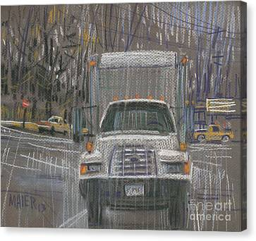 Close-out Delivery Truck Canvas Print by Donald Maier