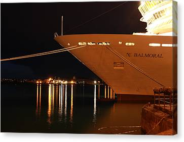 Close Up Cruise Liner At Cobh In Co. Cork Canvas Print by Maeve O Connell