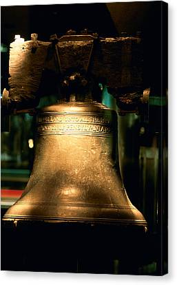 Close-up Of A Bell, Liberty Bell Canvas Print by Panoramic Images