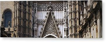 Close-up Of A Cathedral, Seville Canvas Print by Panoramic Images