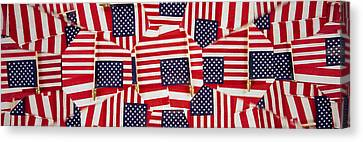 Close-up Of American Flags Canvas Print by Panoramic Images