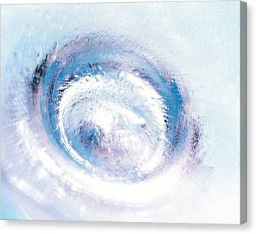 Close Up Of Blown Glass Bottle Bottom Canvas Print