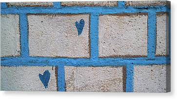 Close-up Of Brick Wall, Safed Zfat Canvas Print