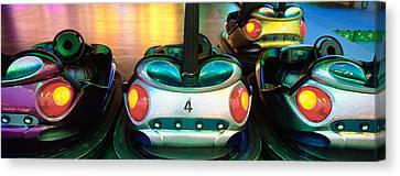 Close-up Of Bumper Cars, Amusement Canvas Print by Panoramic Images