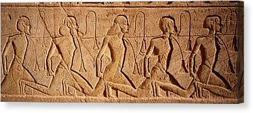 Ancient Egyptian Canvas Print - Close-up Of Carvings On A Wall, Great by Panoramic Images