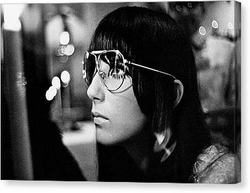 Bono Canvas Print - Close Up Of Cher by Arnaud de Rosnay