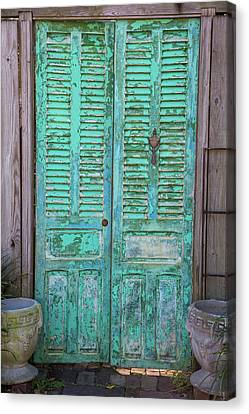 Close-up Of Closed Door Of A House, St Canvas Print