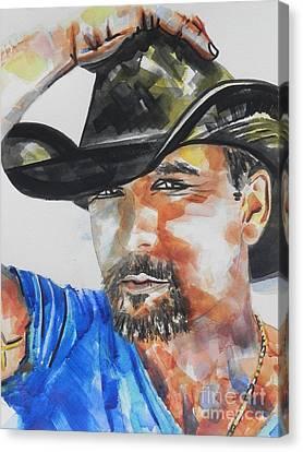 Country Singer Tim Mcgraw 01 Canvas Print by Chrisann Ellis
