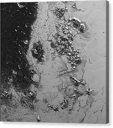 Close-up Of Pluto Canvas Print by Nasa/jhuapl/swri