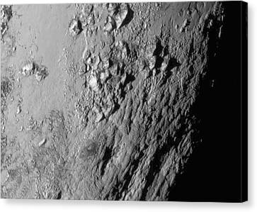Close-up Of Pluto Canvas Print by Nasa/johns Hopkins University Applied Physics Laboratory/southwest Research Institute
