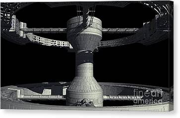 Close-up Of Space Station From 2001 A Canvas Print