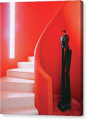 Built Canvas Print - Close-up Of Staircase by Scott Frances