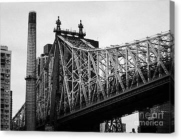 Close Up Of The Iron Work On The Queensboro Bridge New York City Canvas Print by Joe Fox