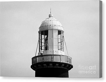 close up of the top East Light lighthouse Altacarry Altacorry head Rathlin Island  Canvas Print by Joe Fox