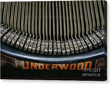Close Up Of Vintage Typewriter Keys. Canvas Print by Paul Ward