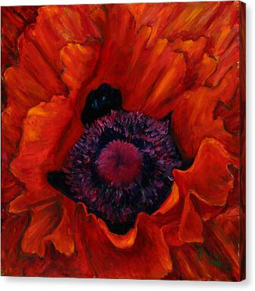 Close Up Poppy Canvas Print by Billie Colson