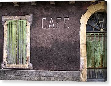 Closed Cafe In South-west France Canvas Print by Georgia Fowler