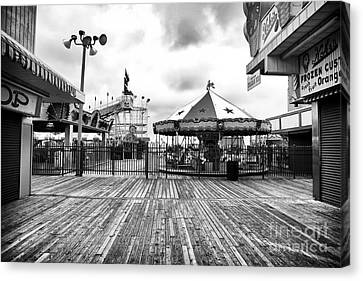 Closed Carousel Canvas Print by John Rizzuto