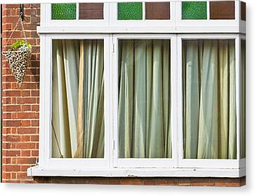 Closed Curtains Canvas Print by Tom Gowanlock