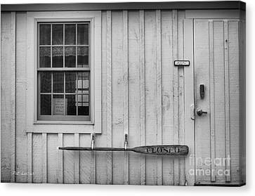 Maine Barns Canvas Print - Closed  by Pat Lucas