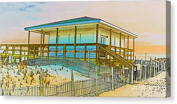 Closed Seaside Heights Boardwalk Canvas Print