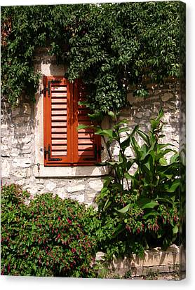 Closed Window Canvas Print