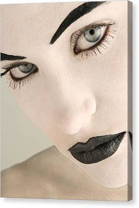 Closeup Of A Womans Face Canvas Print by Darren Greenwood