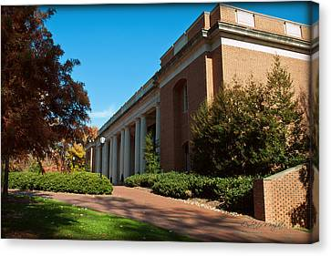 Closeup Of E H Little Library - Davidson College Canvas Print by Paulette B Wright