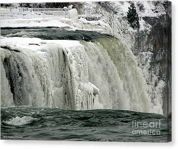 Closeup Of Icy Niagara Falls Canvas Print