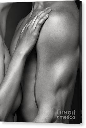 Love Making Canvas Print - Closeup Of Naked Woman And Man Body Parts by Oleksiy Maksymenko