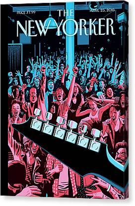 Event Canvas Print - Closing Set by R Kikuo Johnson
