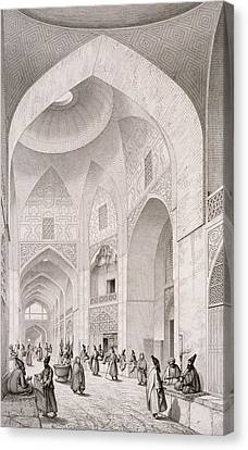 Cloth Market In Isfahan Canvas Print by Pascal Xavier Coste