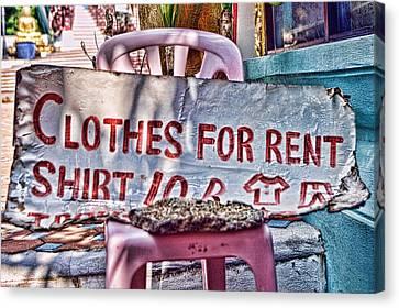 Clothes For Rent Canvas Print