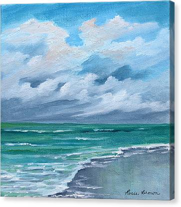 Cloud And More Clouds Seascape Canvas Print