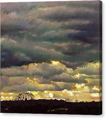 Unexpected Canvas Print - Cloud Burst by Helen White