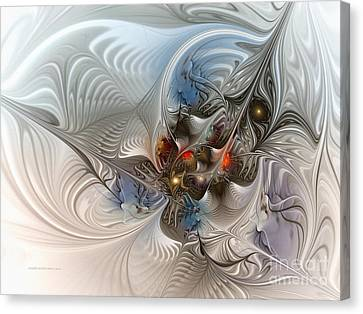 Cloud Cuckoo Land-fractal Art Canvas Print by Karin Kuhlmann