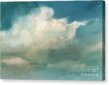 Cloud Diptych Right Canvas Print by Joan A Hamilton