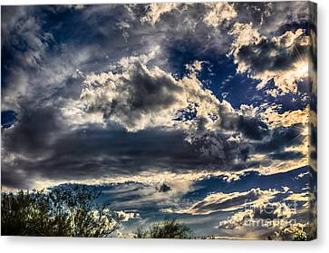 Canvas Print featuring the photograph Cloud Drama by Mark Myhaver
