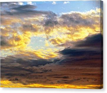 Cloud Finds Day Canvas Print by Q's House of Art ArtandFinePhotography