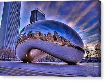 Cloud Gate Canvas Print by Jeff Lewis