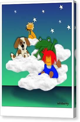 Cloud Kids Canvas Print by Bob Winberry