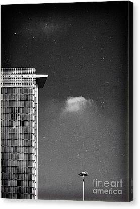 Canvas Print featuring the photograph Cloud Lamp Building by Silvia Ganora