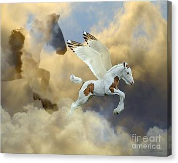 Gypsy Cob Canvas Print - Cloud Mother by Judy Wood