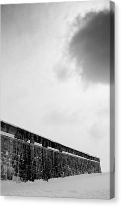 Cloud Over Quebec City Fortifications Canvas Print