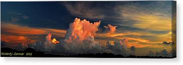 Canvas Print featuring the photograph Cloud Panorama by Richard Zentner