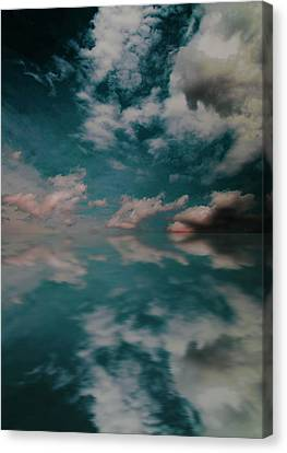 Canvas Print featuring the photograph Cloud Reflections by John Stuart Webbstock