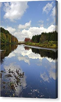 Autumn Lake Reflection Landscape Canvas Print by Christina Rollo