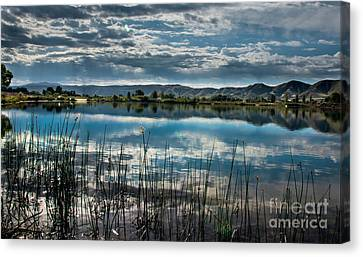 Cloud Reflections Canvas Print by Robert Bales