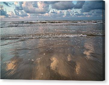 Canvas Print featuring the photograph Cloud Reflections by Sharon Jones